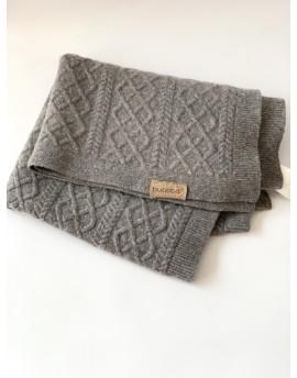Manta de lana suave Bugaboo Gris Melange Claro